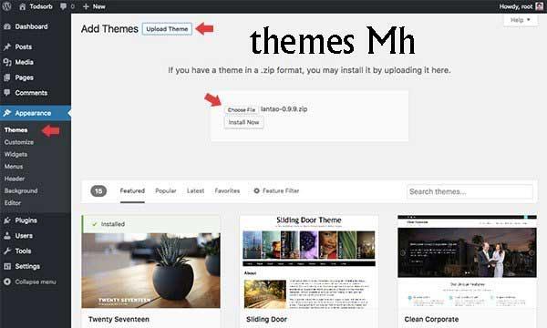 Mh ตระกูล themes ที่ผู้สร้าง website นิยมใช้